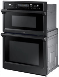 "NQ70M6650DG Samsung 30"" Microwave Combination Wall Oven with Steam Cook and Speed Cook - Black Stainless"