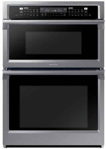 "NQ70M6650DS Samsung 30"" Microwave Combination Wall Oven with Steam Cook and Speed Cook - Stainless"