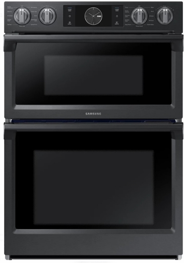"NQ70M7770DG Samsung 30"" Microwave Combination Wall Oven with Flex Duo - Black Stainless Steel"