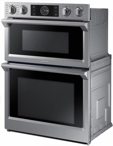 """NQ70M7770DS Samsung 30"""" Microwave Combination Wall Oven with Flex Duo - Stainless Steel"""