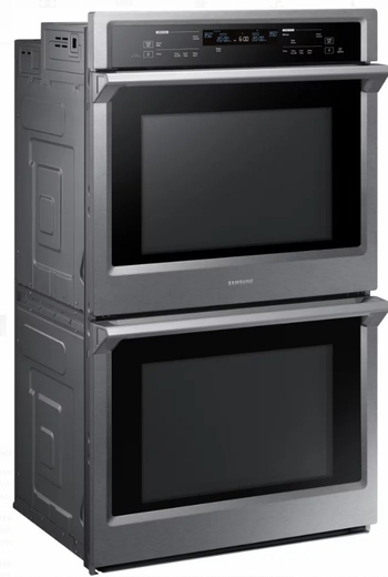 "NV51K6650DS Samsung 30"" Double Wall Oven with Steam Cook and Dual Convection - Stainless Steel"