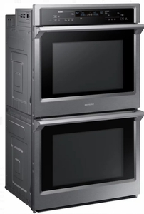 """NV51K6650DS Samsung 30"""" Double Wall Oven with Steam Cook and Dual Convection - Stainless Steel"""