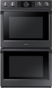 "NV51K7770DG Samsung 30"" Double Wall Oven with Flex Duo - Black Stainless Steel"