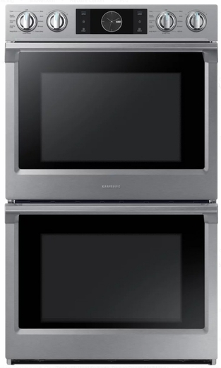 "NV51K7770DS Samsung 30"" Double Wall Oven with Flex Duo - Stainless Steel"