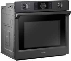 """NV51K7770SG Samsung 30"""" Single Wall Oven with Flex Duo - Black Stainless Steel"""