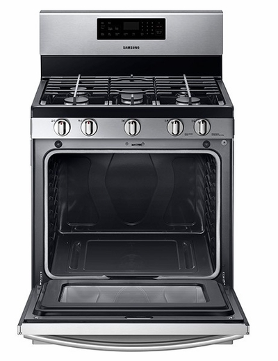 """NX58F5500SS Samsung 30"""" Gas Range with 5 Burner Cooktop - Stainless Steel"""
