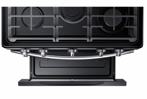 "NX58J5600SG Samsung 30"" Freestanding 5.8 Cu Ft. Gas Range with Convection & Griddle - Black Stainless Steel"