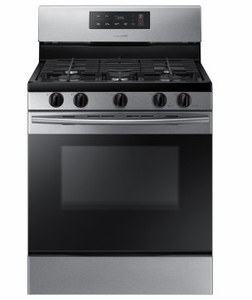 """NX58K3310SS 30"""" Samsung Freestanding Gas Range with 5 Sealed Burners and 5.8 cu. ft. Oven Capacity - Stainless Steel"""