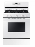 """NX58K3310SW Samsung 30"""" Freestanding Gas Range with 5 Sealed Burners and 5.8 cu. ft. Oven Capacity - White"""