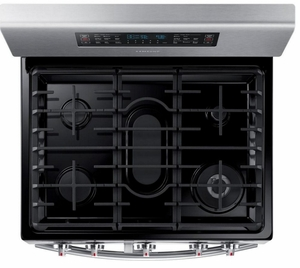 "NX58K7850SS Samsung 30"" Flex Duo Freestanding 5.8 Cu. Ft. Gas Range with Dual Door - Stainless Steel"