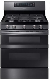 """NX58M6850SG Samsung 30"""" Flex Duo 5.8 cu. ft. Freestanding Gas Range with 5 Sealed Burners and Sabbath Mode - Black Stainless Steel"""