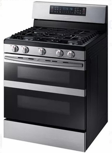 """NX58M6850SS Samsung 30"""" Flex Duo 5.8 cu. ft. Freestanding Gas Range with 5 Sealed Burners and Sabbath Mode - Stainless Steel"""