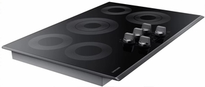 "NZ30K6330RG Samsung 30"" Electric Cooktop with 5 Burners and Hot Surface Indicator Light - Black Stainless Steel"