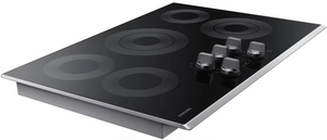 "NZ30K6330RS Samsung 30"" Electric Cooktop with 5 Burners and Hot Surface Indicator Light - Stainless Steel"