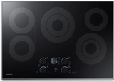 "NZ30K7570RG Samsung 30"" Electric Cooktop with 5 Burners and Hot Surface Indicator Light - Black Stainless Steel"
