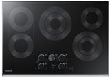 """NZ30K7570RS Samsung 30"""" Electric Cooktop with 5 Burners and Hot Surface Indicator Light - Stainless Steel"""