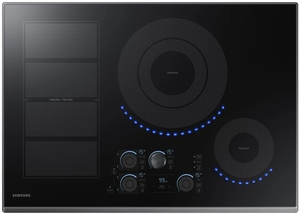 "NZ30K7880UG Samsung 30"" Induction Cooktop with 5 Induction Elements and Kitchen Timer - Black Stainless Steel"