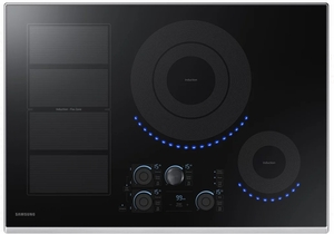 "NZ30K7880US Samsung 30"" Induction Cooktop with 5 Induction Elements and Kitchen Timer - Stainless Steel"