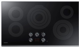 "NZ36K6430RG Samsung 36"" Electric Cooktop with 5 Burners and Hot Surface Indicator Light - Black Stainless Steel"