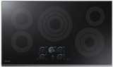 "NZ36K7570RG Samsung 36"" Electric Cooktop with 5 Burners and Hot Surface Indicator Light - Black Stainless Steel"