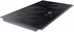 """NZ36K7570RG Samsung 36"""" Electric Cooktop with 5 Burners and Hot Surface Indicator Light - Black Stainless Steel"""