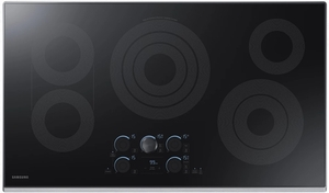"""NZ36K7570RS Samsung 36"""" Electric Cooktop with 5 Burners and Hot Surface Indicator Light - Stainless Steel"""