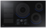 """NZ36K7880US Samsung 36"""" Induction Cooktop with 5 Induction Elements and Kitchen Timer - Stainless Steel"""