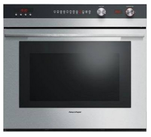 """OB30STEPX3N Fisher & Paykel 30"""" Double PYROLYTIC Built-In Oven 4.1 cu.ft of Capacity  - Stainless Steel"""