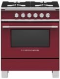 """OR30SCG4R1 Fisher & Paykel 30"""" Classic Style Gas Range with Multi-Shelf Cooking and Easy Cleaning - Red"""