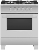 """OR30SCG4X1 Fisher & Paykel 30"""" Classic Style Gas Range with Multi-Shelf Cooking and Easy Cleaning - Stainless Steel"""