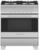 """OR30SDG4X1 Fisher & Paykel 30"""" Contemporary Style Gas Range with Easy Cleaning and Multi-Shelf Cooking - Stainless Steel"""