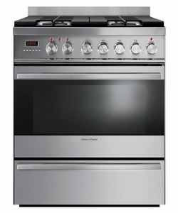"OR30SDPWGX1N Fisher & Paykel 30"" Dual Fuel Range with 3.6 Cu. Ft, Oven & Simmer Burner - Stainless Steel"