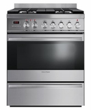 "OR30SDPWGX1 Fisher & Paykel 30"" Dual Fuel Range with 3.6 Cu. Ft, Oven & Simmer Burner - Stainless Steel"
