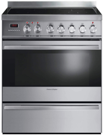 "OR30SDPWIX2 Fisher & Paykel 30"" Contemporary Style Freestanding Induction Range with Self Clean and Convection Bake - Stainless Steel"