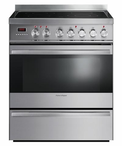 """OR30SDPWSX1 Fisher & Paykel 30"""" Contemporary Style Electric Range with 3.6 Cu. Ft. Oven & Ceramic Glass Cooktop - Stainless Steel"""
