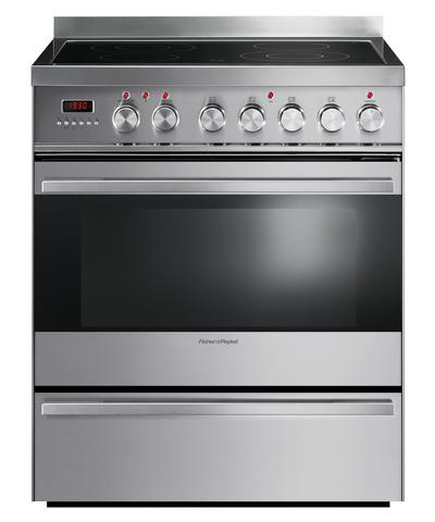 """OR30SDPWSX1 Fisher & Paykel 30"""" Electric Range with 3.6 Cu. Ft. Oven & Ceramic Glass Cooktop - Stainless Steel"""