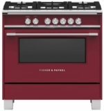 "OR36SCG4R1 Fisher & Paykel 36"" Classic Style Gas Range with Multi Shelf Cooking and Easy Cleaning - Red"