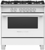 "OR36SCG4W1 Fisher & Paykel 36"" Classic Style Gas Range with Multi Shelf Cooking and Easy Cleaning - White"