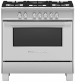 "OR36SCG4X1 Fisher & Paykel 36"" Classic Style Gas Range with Multi Shelf Cooking and Easy Cleaning - Stainless Steel"