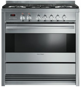 "OR36SDBMX1 Fisher & Paykel 36"" Pro-Style Gas Range with 5 Sealed Burners - Stainless Steel"