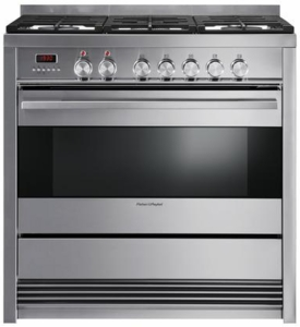 """OR36SDPWGX1 Fisher & Paykel 36"""" Pro-Style Dual Fuel Range with 5 Sealed Burners, 4.0 cu. ft. Convection Oven - Stainless Steel"""