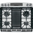 """P2S920SEFSS GE Profile Series 30"""" Dual Fuel Slide-In Range with Warming Drawer - Stainless Steel"""