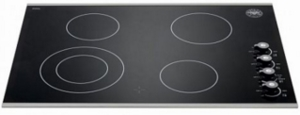 """P304CERNE Bertazzoni 30"""" Smoothtop Electric Cooktop with 4 Radiant Elements 2,500 Watts Black Ceramic Glass Surface - Black"""