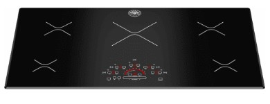 "P365IME Bertazzoni 36"" Design Series Built-in Induction Cooktop with 5 Cooking Zones and Heat Booster Function - Black"
