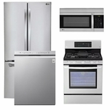 Package 1 - LG Appliance Package - 4 Piece Appliance Package with Gas Range - Stainless Steel