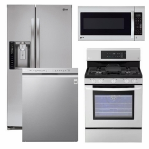 Charming Package 1   LG Appliance Package   4 Piece Appliance Package With Gas Range    Stainless Steel