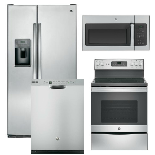 Kitchenaid 4 Piece Kitchen Appliance Package With Electric: GE Appliance Package