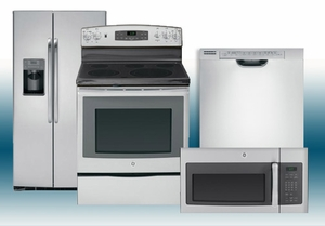 Package 12 - GE Appliance Package - 4 Piece Appliance Package  with Electric Range - Stainless Steel