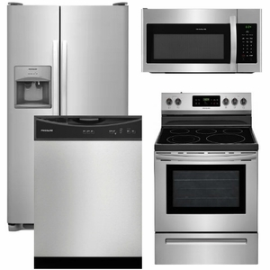 Package 13 Frigidaire Appliance Package 4 Piece Appliance Package With Electric Range Stainless Steel