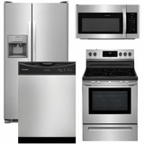Package 13 - Frigidaire Appliance Package - 4 Piece Appliance Package with Electric Range - Stainless Steel